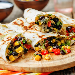 Blacky's Burrow black bean vegetable burritos