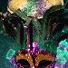 Cactus Catz Mardi gras cake and mask, food photography